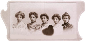 Гнесины - Ольга, Елена Александрова-Гнесина, Евгения Савина-Гнесина, Мария, Елизавета Гнесина-Витачек