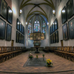 Могила Баха в церкви св. Фомы