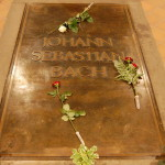 Надгробная плита на могиле И. С. Баха
